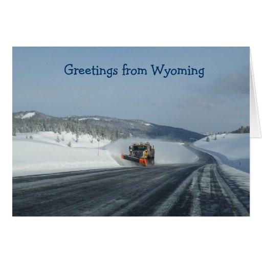 Wyoming Tarjeta De Felicitación