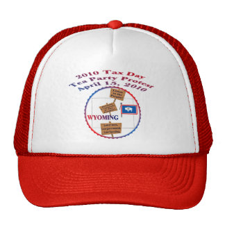 Wyoming Tax Day Tea Party Protest Hat