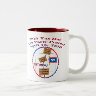 Wyoming Tax Day Tea Party Protest Two-Tone Coffee Mug