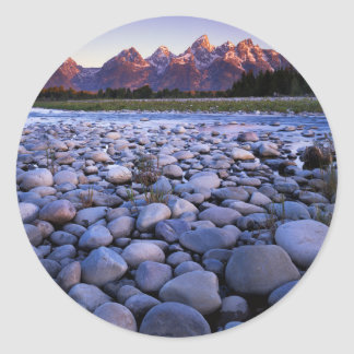 Wyoming, Teton National Park, Snake River Classic Round Sticker
