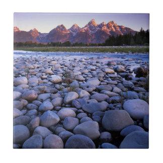 Wyoming, Teton National Park, Snake River Tiles