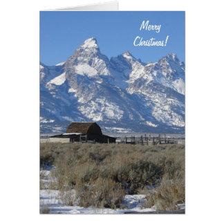 Wyoming Tetons Christmas Card