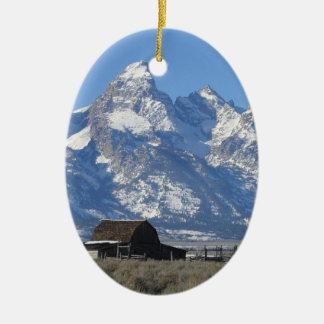 Wyoming Tetons Christmas Ornament