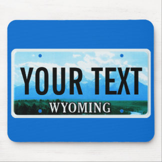 Wyoming Tetons license plate mouse pad