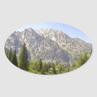 WYOMING - TETONS OVAL STICKER