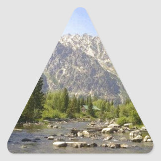 WYOMING - TETONS TRIANGLE STICKER