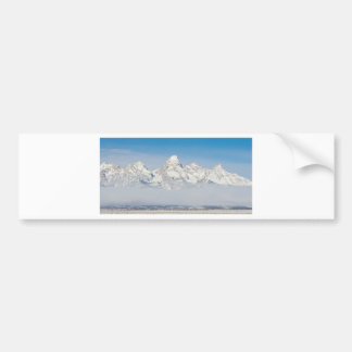 WYOMING TETONS WITH SNOW BUMPER STICKER