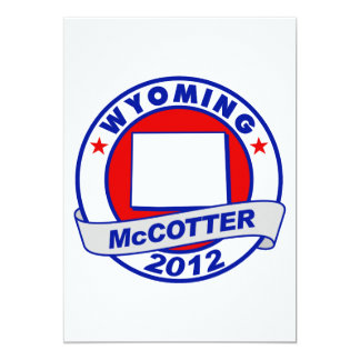 "Wyoming Thad McCotter 5"" X 7"" Invitation Card"