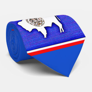Wyoming The Equality State Neck Tie