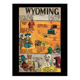 Wyoming the Equality State Postcard