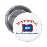 Wyoming - un estado del rectángulo pins