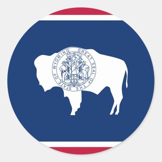 Wyoming, United States flag Classic Round Sticker