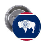 Wyoming, United States flag Pinback Button
