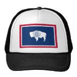 Wyoming, United States flag Trucker Hats