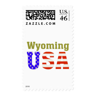 Wyoming USA Postage Stamp