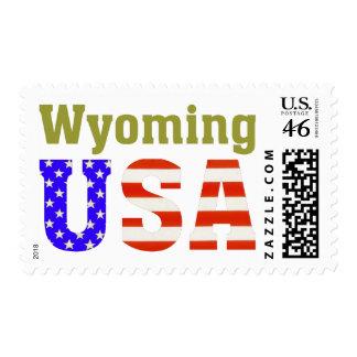 Wyoming USA Postage