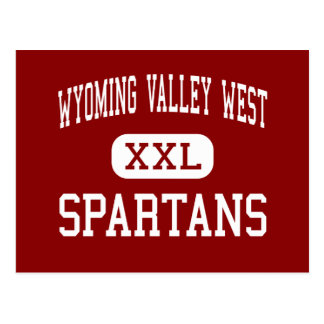 Wyoming Valley West - Spartans - Middle - Kingston Postcard