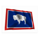 Wyoming Waving Flag Post Cards