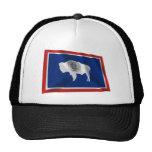 Wyoming Waving Flag Trucker Hat