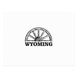 wyoming wheel postcard