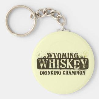 Wyoming Whiskey Drinking Champion Key Chains