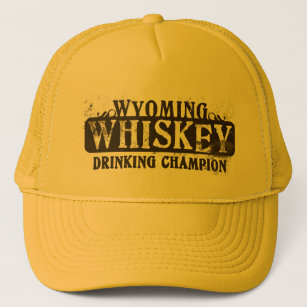 Wyoming Whiskey Drinking Champion Trucker Hat 3d707d29d945
