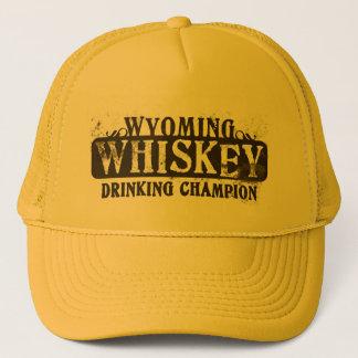 Wyoming Whiskey Drinking Champion Trucker Hat