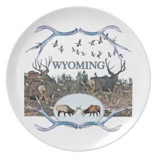 WYOMING wildlife Melamine Plate