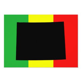Wyoming with Rasta Colors 5x7 Paper Invitation Card