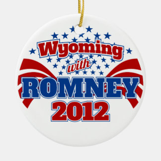 Wyoming with Romney 2012 Ceramic Ornament