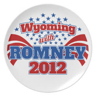 Wyoming with Romney 2012 Dinner Plates