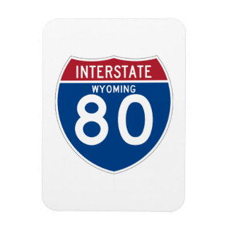Wyoming WY I-80 Interstate Highway Shield - Magnet