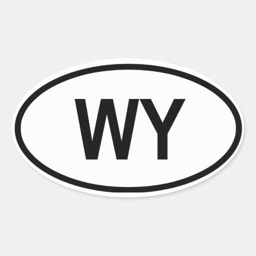 """Wyoming """"WY"""" Oval Sticker"""