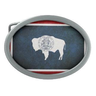 Wyomingite Flag Belt Buckles