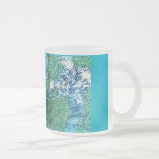 WYOMING'S GRAND TETONS in the SPRING 10 Oz Frosted Glass Coffee Mug