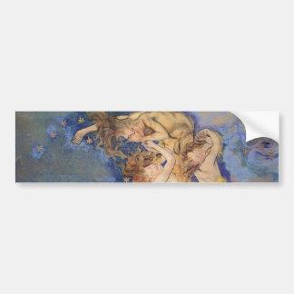Wyspianski, ángeles caidos, 1896 etiqueta de parachoque