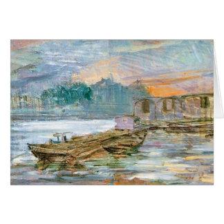 Wyspianski, Barges on the Seine, 1894 Card