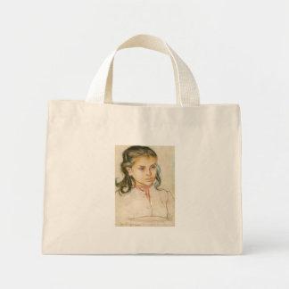 Wyspianski, cabeza de un chica, 1895 (1) bolsa de mano