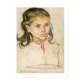Wyspianski, cabeza de un chica, 1895 (1) postales