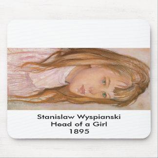 Wyspianski cabeza de un chica 1895 2 tapete de ratones