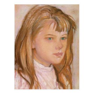 Wyspianski, cabeza de un chica, 1895 (2) tarjetas postales