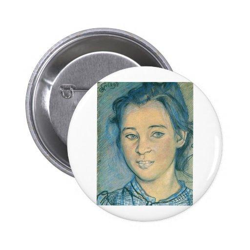 Wyspianski, cabeza de un chica, 1898 pins