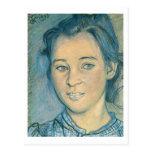Wyspianski, cabeza de un chica, 1898 postales