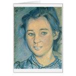 Wyspianski, cabeza de un chica, 1898 tarjeta