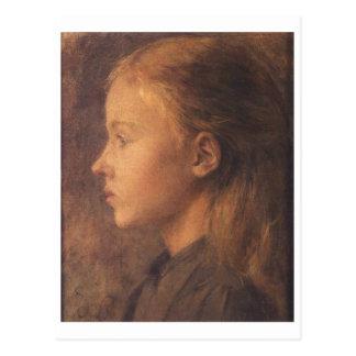 Wyspianski, cabeza de un chica (ninguna fecha) tarjetas postales