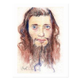 Wyspianski, cabeza de un hombre judío, 1897 tarjeta postal