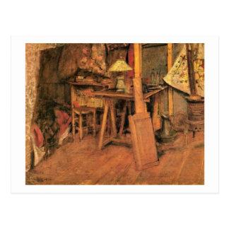 Wyspianski, el estudio 1892 de París del artista Postal
