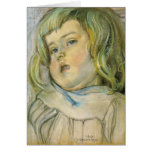 Wyspianski, estudio de un niño, 1901 tarjeta
