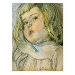 Wyspianski, estudio de un niño, 1901 tarjeta postal