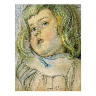 Wyspianski, estudio de un niño, 1901 postales